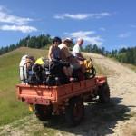 Von der Bergstation zum Startplatz